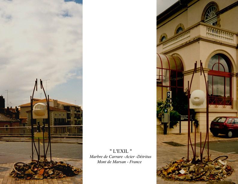 """12 - Sculpture """" L'EXIL"""""""