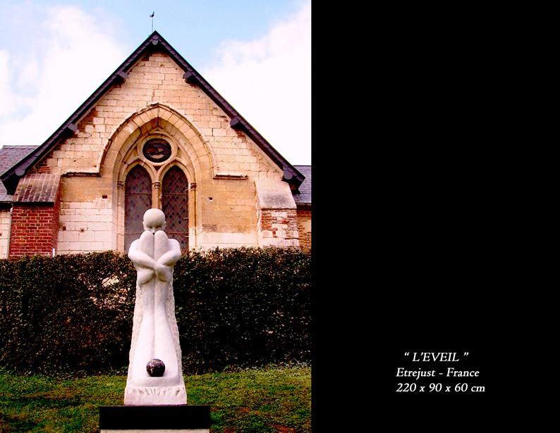"13-sculpture "" L'EVEIL """