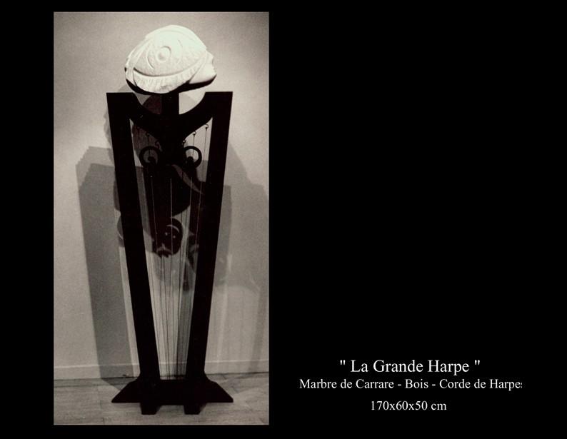 "28- Sculpture "" La Grande Harpe """