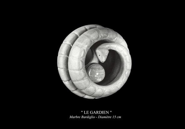"""Sculpture - """" LE GARDIEN """""""