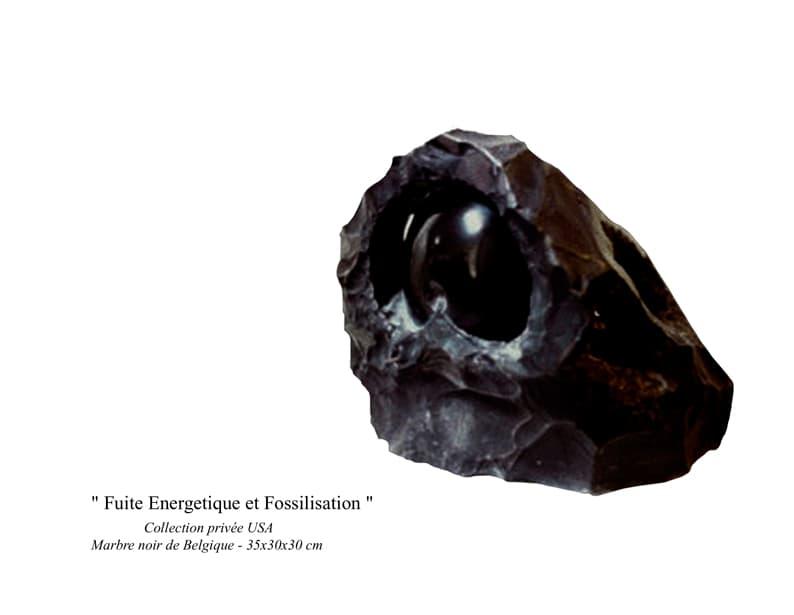"""36- Sculpture"""" Fuite Energétique et Fossilisation """""""
