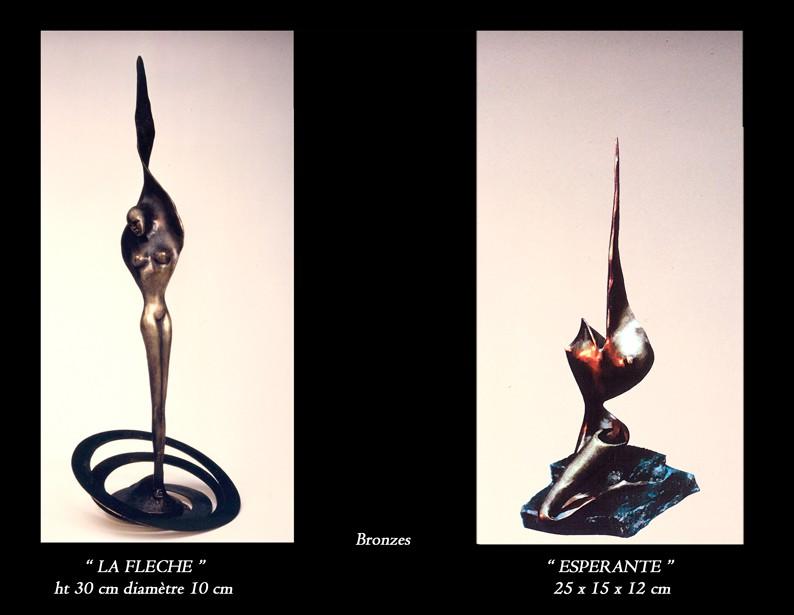 """48- Sculptures """" LA FLECHE """" - """" ESPERANTE """""""