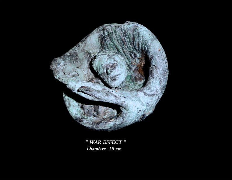"50- Sculpture "" WAR EFFECT """