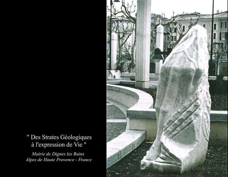 """6-Sculpture """" DES STRATES GEOLOGIQUES A L'EXPRESSION DE VIE """""""